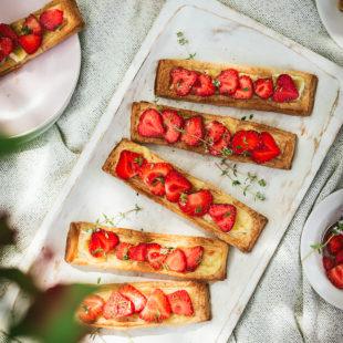 Maasika-brie lehttainaampsud